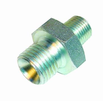 1x Steel Straight Union 1/4 Npt - JIC8 (SA07)