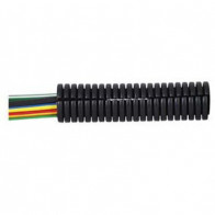 1 Metre Durite - Convoluted Split Black PolypropyleneTubing 10NW - 0-328-10