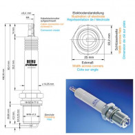 Beru Industrial Spark Plugs 18 GZ 6-77-2 - 18GZ6-77-2 (0004800919) Z202