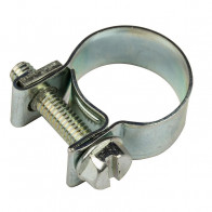 9-11mm Carbon Steel Zinc Plated Clip Fuel Air Water Line MINI HOSE CLAMP 10 Pack