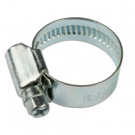 40-60mm W1 Zinc Coated Steel Clip Fuel Air Water Worm Hose Clamp 10 Pack