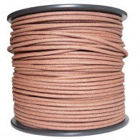 1M Cotton Braided Automotive Electrical Wire Cable 18 Gauge Brown