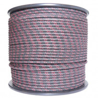 1M Cotton Braided Automotive Electrical Wire Cable 18 Gauge Black & Red Fleck