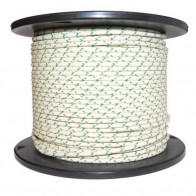 1M Cotton Braided Automotive Electrical Wire Cable 16 Gauge White & Green Fleck