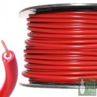7mm HT Ignition Lead Cable - Wire Core PVC Red - 100 Meter Roll