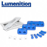 1x EZK41B - Lumenition Blue -  4 Lead Set Markers & Clamps - Ignition Lead Numbe