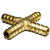 """1x """"X"""" Connector Equal Cross Tail 1/4"""" ID - For Petrol Fuel Hose Pipe 5/16"""" ID"""
