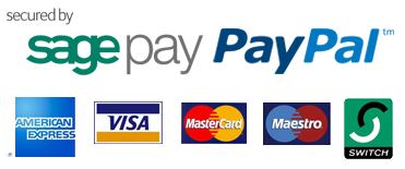 Pay securely by Sagepay or Paypal